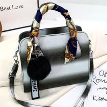 Black Fashion Casual Gradual Change Hand Messenger Bag