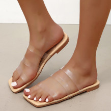 Transparent Color Fashion Casual Hollowed Out Split Joint Comfortable Slippers