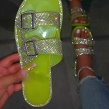 Green Street Hollowed Out Opend Out Door Shoes