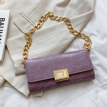 Purple Fashion Casual Solid Chains Bags