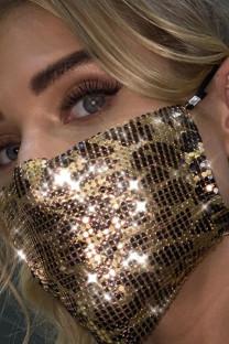 Gold Street Leopard Metal Accessories Decoration Mask