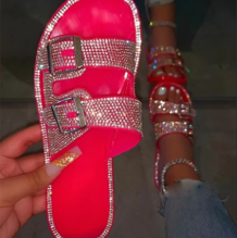 Red Street Hollowed Out Opend Out Door Shoes