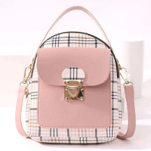 Pink Fashion Casual Patchwork Zipper Backpack