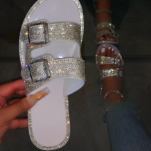 White Street Hollowed Out Opend Out Door Shoes