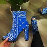 Decorative Pattern Sexy Fish Mouth Shoes