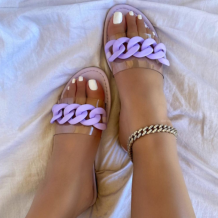 Purple Sexy Street Split Joint Opend Out Door Shoes