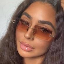 Brown Sexy Gradual Change Split Joint Sunglasses