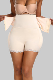 Apricot Fashion Sexy Solid Split Joint Bustiers Corset