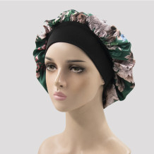 Green Casual Living Print Patchwork Confinement Hat