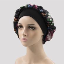 Black Casual Living Print Patchwork Confinement Hat