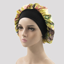 Yellow Casual Living Print Patchwork Confinement Hat