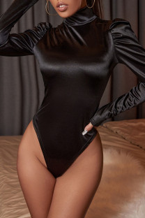 Black Fashion Sexy Solid Split Joint O Neck Jumpsuits