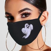 Black Gray Fashion Casual Print Mask