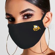 Black Yellow Fashion Casual Print Mask