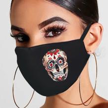 Black Red Fashion Casual Print Mask