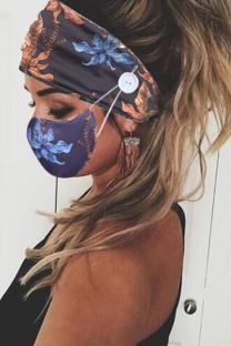 Blue Casual Street Mixed Printing Print Mask