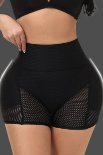 Black Fashion Casual Patchwork Solid See-through Bustiers