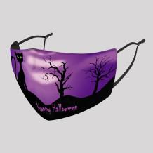 Purple Fashion Casual Print Split Joint Mask