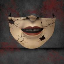 Khaki Fashion Casual Print Split Joint Mask