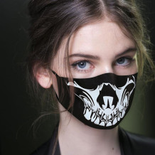 Black Fashion Casual Print Mask