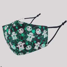 Black Green Fashion Casual Skull Head Print Split Joint Mask