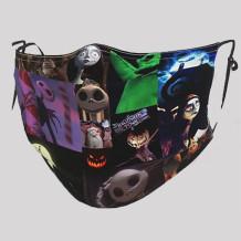 Multicolor Street Punk Print Split Joint Mask