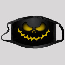 Yellow Street Punk Print Split Joint Mask