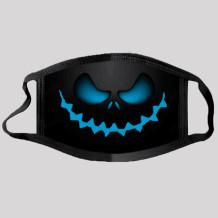 Blue Street Punk Print Split Joint Mask