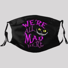 Black Street Punk Print Split Joint Mask