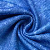Blue Street Striped Print Split Joint Asymmetrical Turtleneck Long Sleeve Two Pieces
