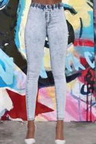 Casual Skinny Blue Denim Jeans