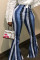 Euramerican  Striped  Blue  Pants
