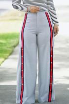 Euramerican Patchwork Loose Grey Pants