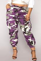 Trendy Camouflage Purple Pants