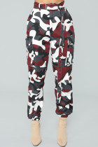 Trendy Camouflage Red Pants