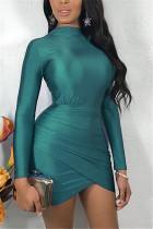 Fashion Long Sleeve Mini Dress