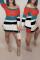 Casual Patchwork Multicolor Mini Dress