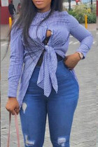 Sweet Striped Blue Shirts