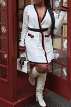 Polyester Sweet Regular Long Sleeve Coat&Jacket