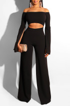 Trendy Hollowed-out Black One-piece Jumpsuit