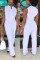 Fashion Sleeveless Casual White Jumpsuit