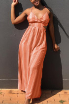Sexy Halter Orange Maxi Dress