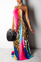 Sexy Backless Leopard Print Multi Dress