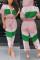 Leisure Sports Stitching   Mesh Pink Two-piece