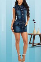 Sexy Fashion Slim Denim Blue Dress