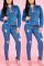 Fashion Stretch High Waist Hole Tight Blue Jeans