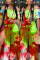 Sexy Fashion Printed Split Leg Pants Red Set