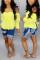 Fashion High Waist Stretch Hole Blue Jeans