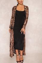 Fashion Sexy Sequins Black Cardigan