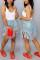 Stylish Casual Light Blue Fringed Denim Shorts